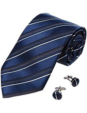YA-BC-A.01 multicolore di lusso Stripes Cravatte di seta a mano da Y&G