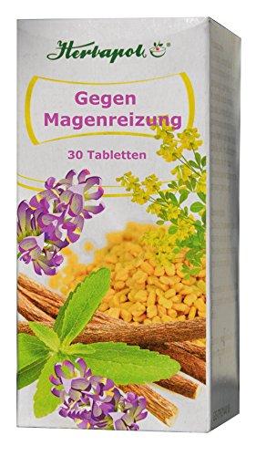 Gegen Magenreizung, 30 Tabletten mit Bockshornkleesamen und Süßholz, beheben effektiv Magenschmerzen wegen gereizter Magenschleimhaut, Magenschleimhautentzündung, Gastritis
