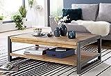 Main Möbel Couchtisch Holz massiv 120x70cm Tundra Akazie Natur Metall