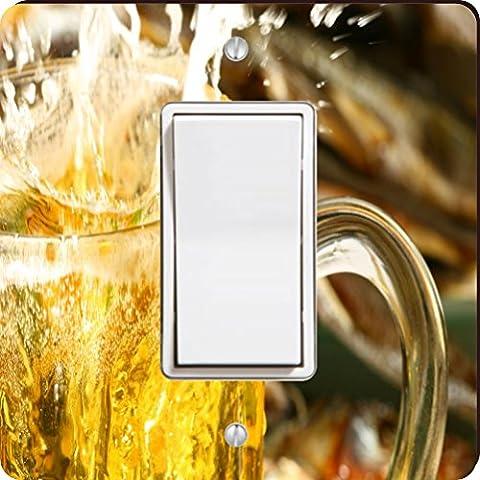 Rikki Knight Beer Splash Single Rocker Light Switch Plate