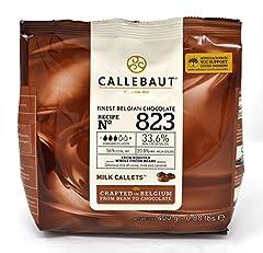 Idea Regalo - Callebaut N° 823 (33,6%) - Copertura di Cioccolato al Latte Belga - Finest Belgian Milk Chocolate (Callets) 400g
