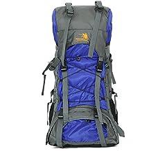 airelibre libre Caballero marco interior 60L senderismo mochila de viaje mochila Camping mochila 60L Extra grande, azul real