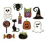Sizzix Thinlits Stanzschablonen-Set 11 STK. -Kleine Halloween-Dinge von Tim Holtz, Stahl, Mehrfarbig, 19.1 x 14.4 x 0.4 cm