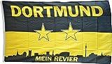 Flaggenfritze Fahne/Flagge FanFahne/Flagge Dortmund Mein Revier Sterne - 150 x 250 cm + gratis Sticker, XXL-Fahne