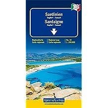 Sardaigne - Cagliari - Sassari - Carte régionale Italie (échelle : 1/200 000)
