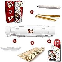 Merci Myself Sushi Maker Sushi Bazooka // Regalo: Ricette EBOOK + 2 Paia di Bacchette + Titolare Bacchetta + Sushi stuoia di bambù // DIY Japan utensile per Realizzare Sushi Maki Fatte in Casa