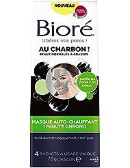 BIORÉ Masque Auto-Chauffant 1 Minute Chrono au Charbon