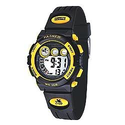 Children Girls Boys Watches,Digital Sports Watches,Kids Boys Waterproof Sports Wrist Watch 239g Yellow