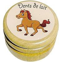 Boîte boite à dents de lait en bois pour en différents modèles pour garçons et filles avec couvercle à vis de 44 mm…