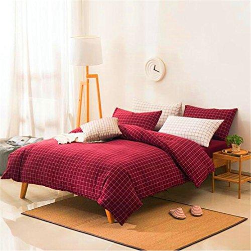 LF Double Reversible 4 Baumwoll-Quilt Sets Kissenbezug Bettwäsche Set Hotel Qualität Luxus,Red,Bed2.0Mwas220*240 (Aqua-bett-satz)