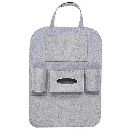 Rücksitz Organizer Wasserdicht Rücksitztasche Auto-Rückenlehnenschutz, Rückenlehnen Tasche Trittschutz mit Rücksitz-Organizer 56 x 41cm Groß