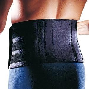 LP SUPPORT 727CA Rücken-Bandage – Rückenschutz – Rückenstütze aus der Extreme Serie, Größe:Universalgröße, Farbe:schwarz