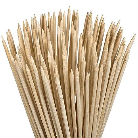 Bambou Guimauve Bâtons à rôtir 35,1cm 4mm d'épaisseur Parfait pour Hot Dog kebab saucisse, écologique à l'100pièces