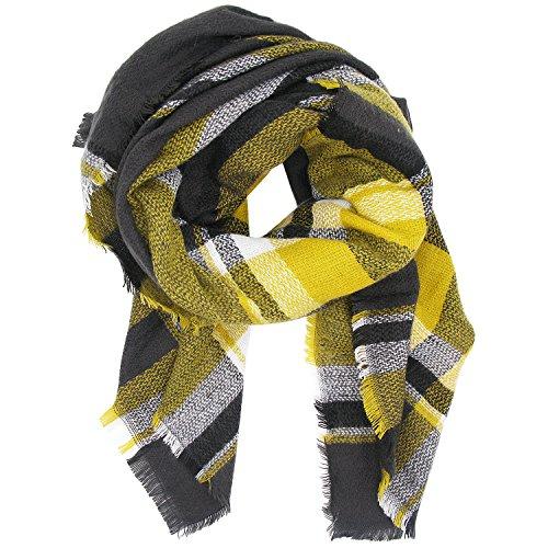 XXL Schal, Canvalite Klassisch Karo Damen Herbst Winter Schal warm, weich, mehrfarbig (Für Frauen Schals)