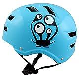 SkullCap Casque BMX - Casque Skate - Casque Velo, Design: Monster Blue NextLevel - Casque Enfant, Taille: S (53 - 55 cm) Casque Enfant
