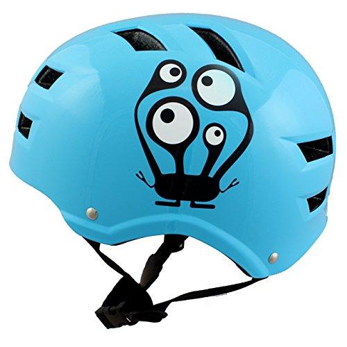 Skullcap® BMX Helm - Skaterhelm - Fahrradhelm - Herren Damen Jungs & Kinderhelm, hellblau, Gr. S (53 - 55 cm), Monster Blue