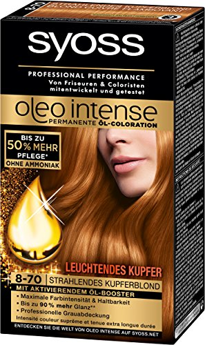 Syoss Oleo Intense 8-70 Strahlendes Kupferblond, 6er Pack (6 x 115 ml)