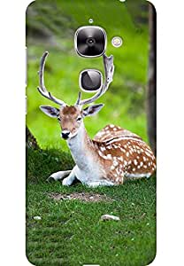 AMEZ designer printed 3d premium high quality back case cover for LeEco Le2 (Deer)