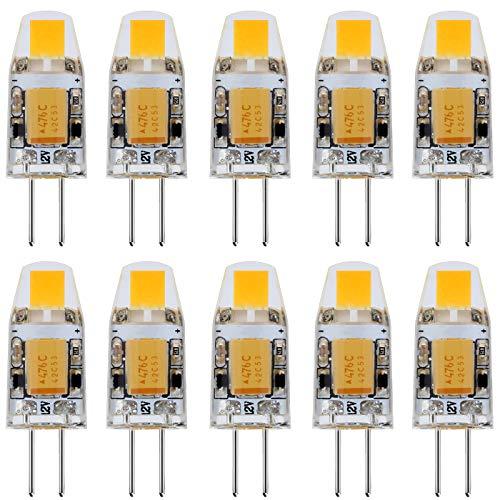 JAUHOFOGEI 10x 1W Mini Bombilla lámpara LED COB G4 - 12V AC...