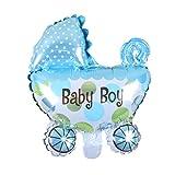 joyliveCY Baby Dusche Baby Buggy Folie Ballons blau