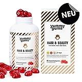 NEU Yummygums Biotin Gummibärchen & Haar-Vitamine - Kalorienarme Vitamin Gummibären für Haut, Haare, Nägel - Hair & Beauty Vitamin Gummies (60 Stück)