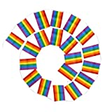 SAIYU Gay Pride Flag String Rainbow Bandiere 30 piedi Banners Bunting Bandiere Gay Lesbian Bandiere di pace per LGBT Pride Parade Festival Decorazioni per feste