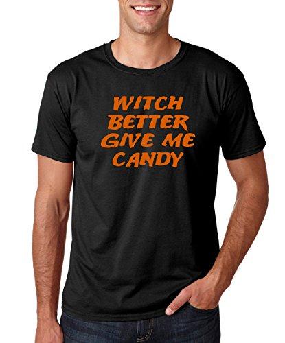 Crazy Bros Tees Herren T-Shirt mit lustigem Halloween-Kostüm - Schwarz - Mittel