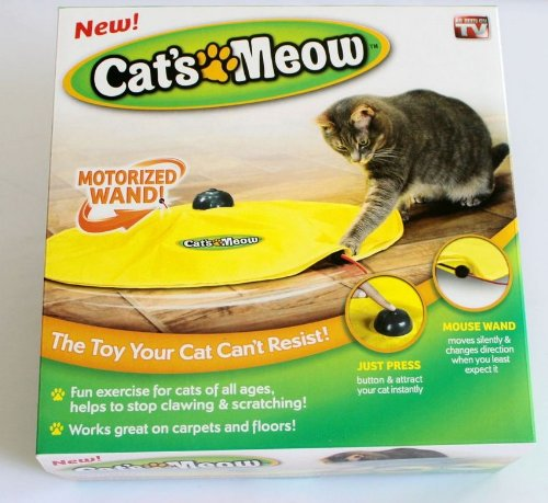 Undercover Mouse, 4 Speed Electronic Cat's Meow Cat Exercise Toy, Replacement Spare Wand and Nylon Skirt for Cat's Meow… 4