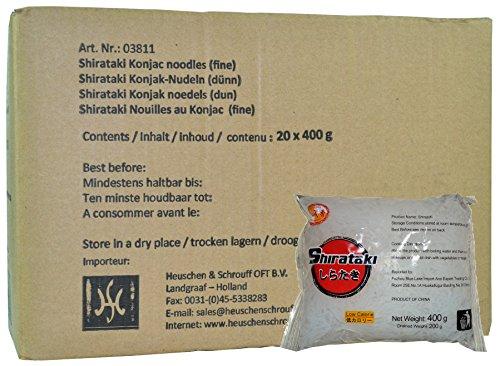 Preisvergleich Produktbild City Aroma - Shirataki schmal - Konjak Spaghetti - 20er Pack (20 x 400g / ATG 200g) - 1 Karton