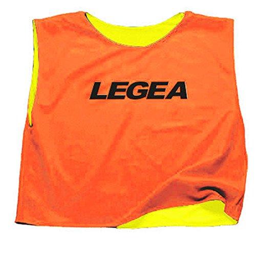 LEGEA Casacca Double Pettorina Confezione da 10 Pezzi TORNEO Sport Allenamento PEGASHOP (L/XL, Arancio-Giallo)