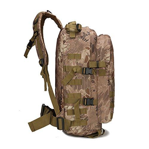 Alpinismo borsa 3d tattico zaino in nylon impermeabile maschio femmina Zaino tattico esercito fan campeggio mimetico borsa, ACU Digital Black
