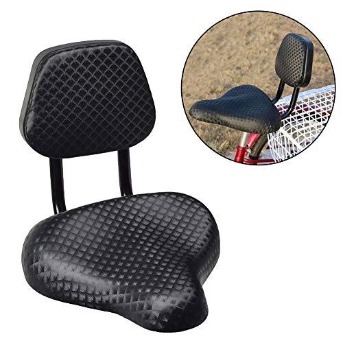 Denret3rgu Cycling Wide Comfort Kunstleder Fahrrad Fahrradsattel Sitz mit Rückenlehnenstütze