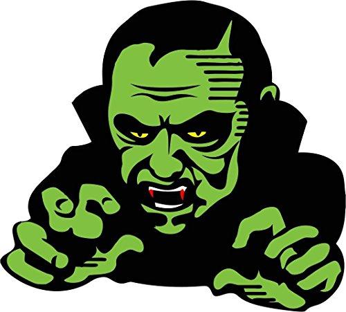 Akachafactory Selbstklebend Wandtattoo Fete Deco Halloween Auto Dracula Vampir Kinder (Deco-de Citrouille Halloween)