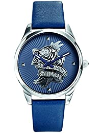 Reloj mujer JEAN PAUL GAULTIER–Navy Tatoo–Pulsera cuero azul–37mm–8502413