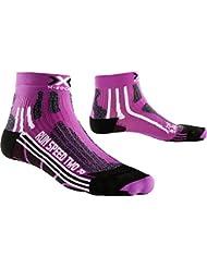 X-Socks Mujer xrun Speed Two Lady Unidad calcetín, otoño/Invierno, Mujer, Color Violet/Black, tamaño 39/40