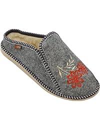 413790f2bc0d1 BeComfy Pantoufles avec Semelle en Caoutchouc pour Les Dames et  WedgeChaussons Chaussures de Confort