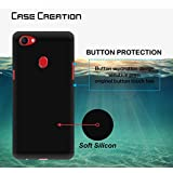 Case Creation (TM) Ultra Thin 0.3mm Black Silicone Matte Finish Black Flexible Soft TPU Slim Back Case Cover For Oppo F5/OppoF5 6.0-inch 2017 (Black Soft Case)