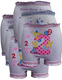 Lurewear Kids White Colur Multi Design Bloomers (Pack of 6)