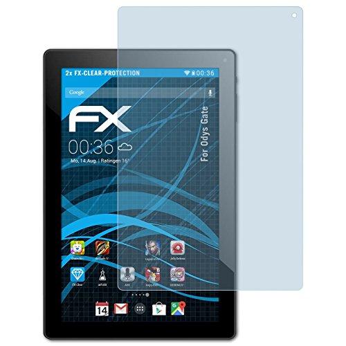 atFolix Schutzfolie kompatibel mit Odys Gate Folie, ultraklare FX Bildschirmschutzfolie (2X)