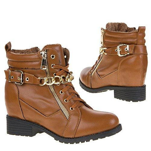 Damen Schuhe, YMS-10, STIEFELETTEN Camel YMS-10