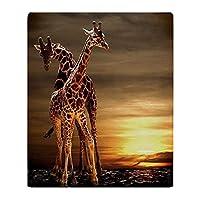 YISUMEI - Soft Fleece Blanket - Giraffes, 150 x 200 cm Throw Suitable for Sofa or Bed