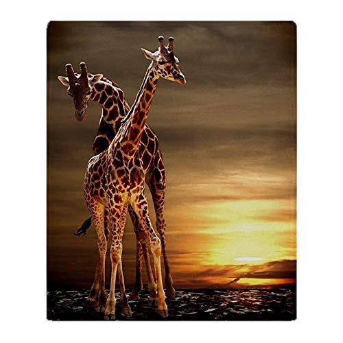 YISUMEI Decke 150x200 cm Kuscheldecken Sanft Flanell Weich Fleecedecke Bettüberwurf Giraffen