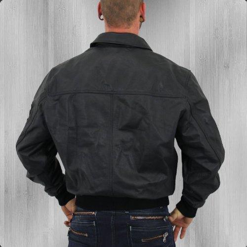 Alpha Industries Lederjacke CWU Leather black – schmal und kurz geschnitten - 3