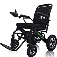 ACEDA Electric Wheelchair, Foldable And 25Kg Lightweight Powered Wheelchair, 360° Joystick,Openable Handrail,Supports 150Kg,Seat Width 43Cm,Black