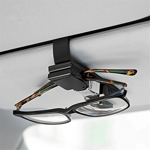 Auto Visor Sonnenbrillen Halter, Auto SUV Brillen Card Clip Mount, Fahrzeug Praktische Zubehör , Black