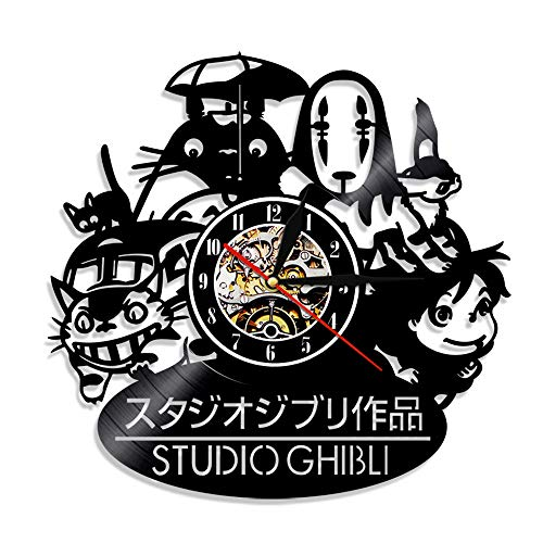 ALEILA 12 '' Studio Ghibli Anime Thema Schallplatte Wanduhr Kreative Kunst Wohnkultur Weihnachten Männer Freund