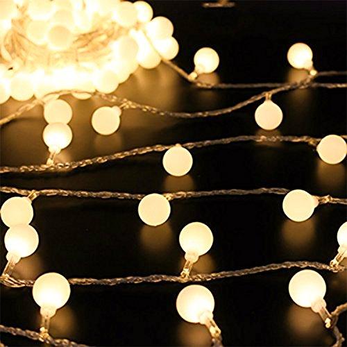 Batteriebetrieben 50 LED Globe Ball Lichter für Weihnachten Bäume, Thanksgiving, Garten, Halloween, Home Dekoration Indoor Outdoor Hochzeit Party Geburtstag Dekoration (Warm (Home Dekorationen)
