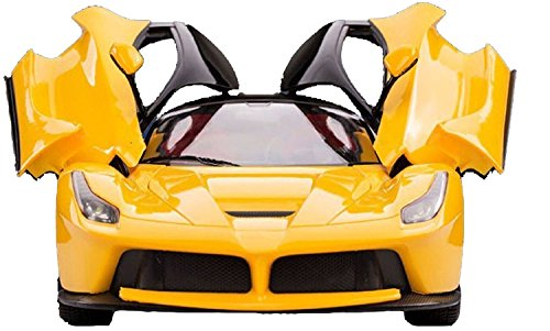 MW Toys Gravity Sensing Steering Remote Control Ferrari R/C Car with Openable Doors and Rechargable Batteries for kids ( Yellow )