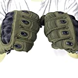 Unigear Taktische Handschuhe mit Klettverschluss Motorrad Handschuhe Army Gloves Sporthandschuhe geeignet für Motorräder Skifahren, Militär, Airsoft (Grün-Voll, M) - 6