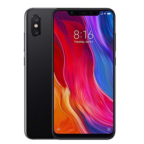 "Xiaomi Mi 8 Móviles Smartphones Teléfono 6.21"" Full HD AMOLED Pantalla 6GB RAM + 64GB ROM Snapdragon 845 Octa Core Dual SIM 20MP Frontal + 12MP Dual Cámara Trasera Negro"